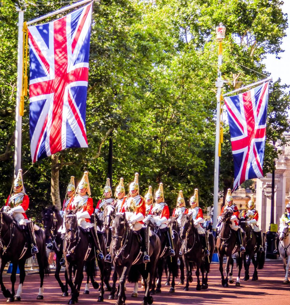 Britische Garde auf Pferden