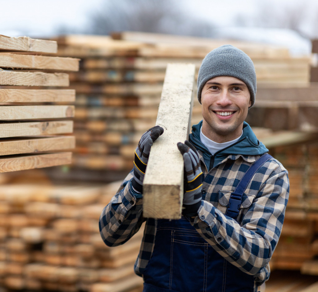 Arbeiten in der Holzindustrie