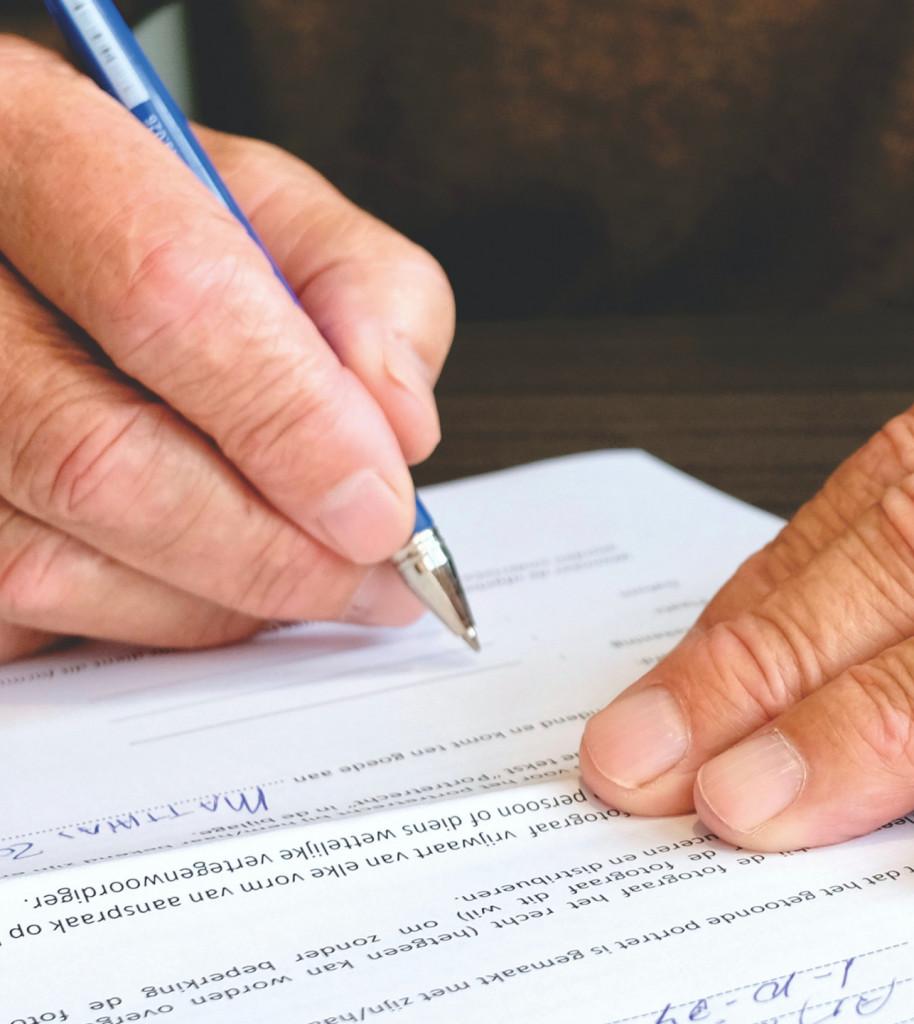 Unterschrift bei Notar