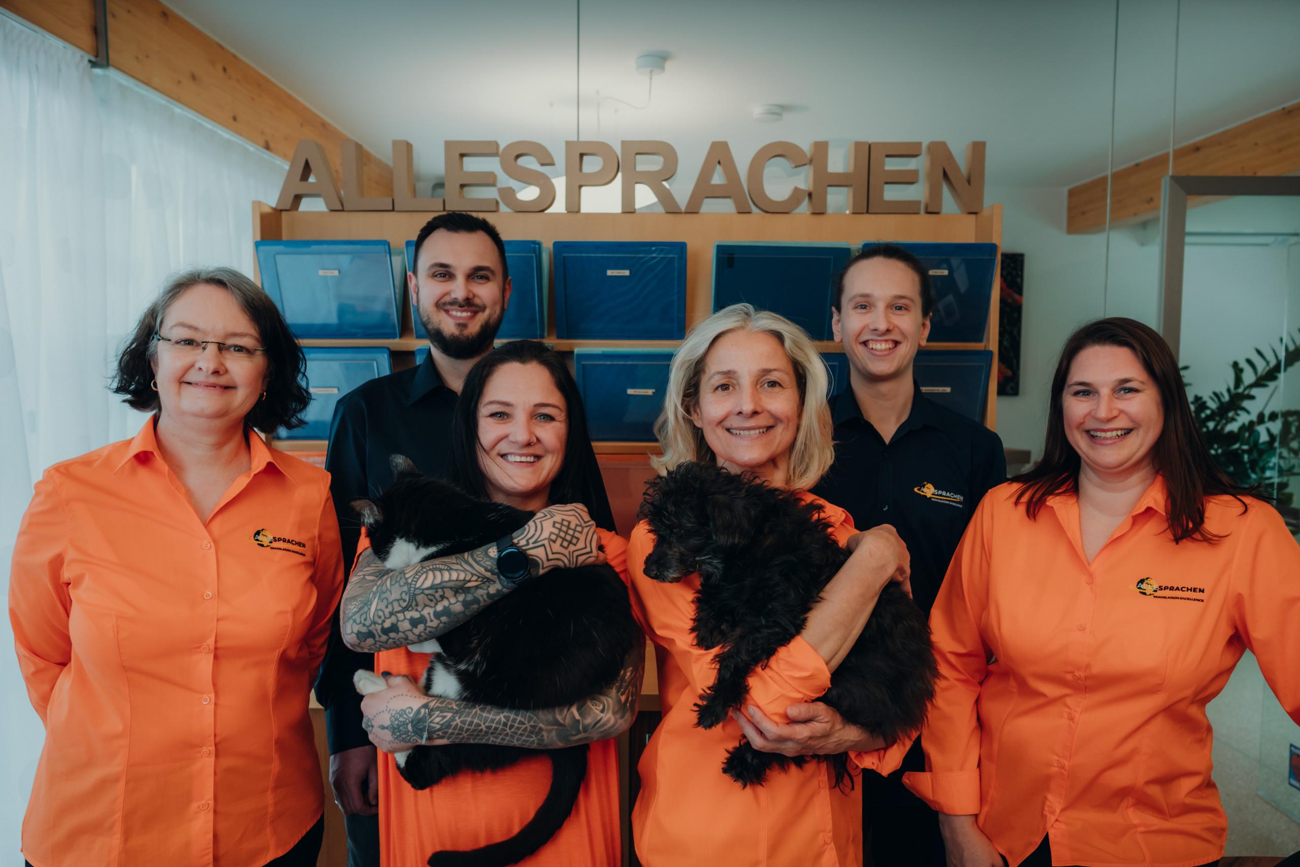 Das Team von ALLESPRACHEN im Headquater Graz