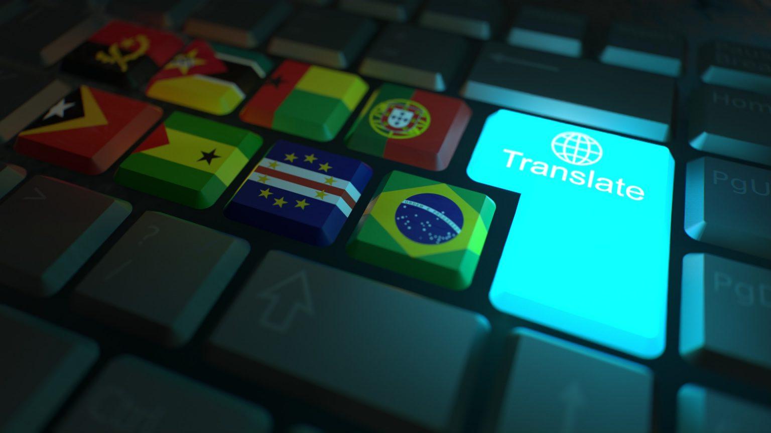 Internationale Tastatur zum Übersetzen